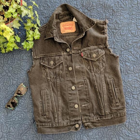 ff352830 Levi's Jackets & Coats | Mens Vintage Levis Black Denim Vest | Poshmark